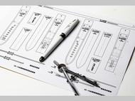 20-18mm皮表带图纸型 出格 一套图纸为两个种类