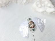 【LXB私人设计】法式刺绣钉珠昆虫胸针