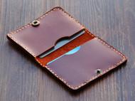 手缝牛皮卡包卡夹证件夹 零钱包