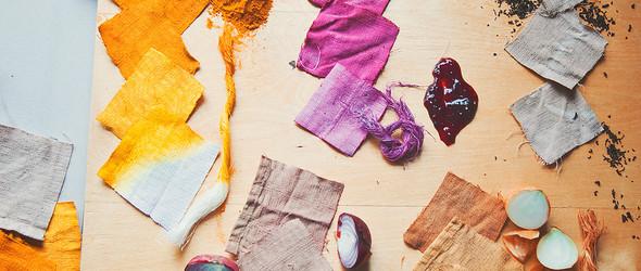 亚麻布草木染染色实验/ Linen Dyeing