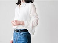 简约透气显瘦轻熟女雪纺衬衫