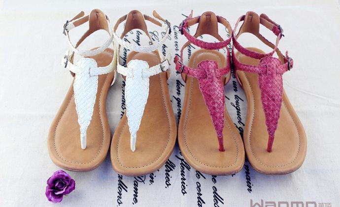纯手工编织简约罗马式凉鞋--Wanmo萬陌