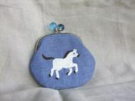 【青手制】刺绣 口金手包/钱包 送你一匹白马