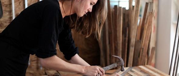 美国美女木工师