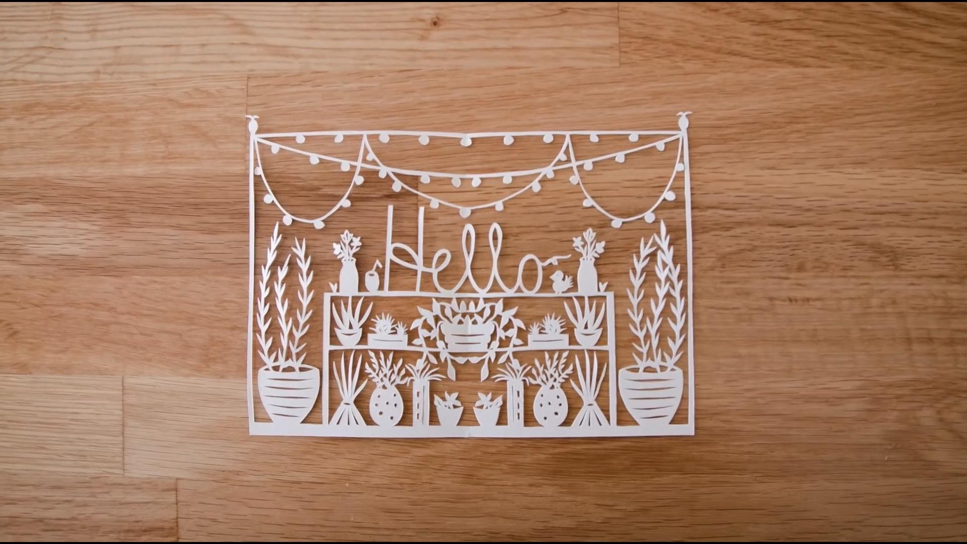 纸雕&刻纸基础知识之一:工具与基础雕刻方法
