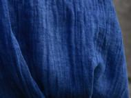 南山草木染原创自制蓝染文艺风纯棉男女士纯色围巾
