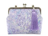 【浅笑设计】紫色流苏梦幻口金包 斜挎包 手工包