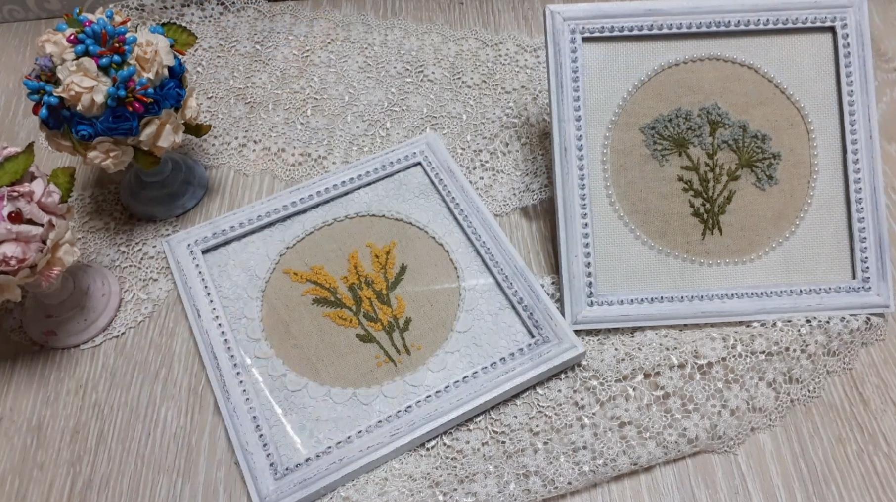 DIY装饰刺绣画制作视频教程