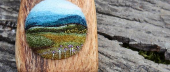 带着大自然气息的羊毛毡作品-羊毛毡艺术家Lisa Jordan的作品欣赏