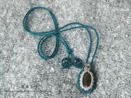 【囡囡手作】macrame手工编绳水晶项链可调节长短