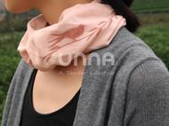 unna酝罗_燕子与柳_天然植物染 纯棉方巾 草木染 手帕 围巾 头巾 宝贝口水巾 46*46