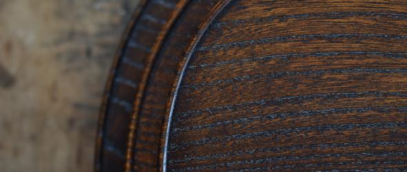 简约几何造型木雕餐具   日本木匠紀平佳丈作品