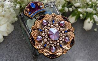 奢华珠绣胸针分步制作指南 | Katerina Zimaryova