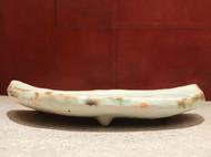 青瓷冰裂皿 日本京都陶瓷家猪饲佑一作品 精致食器 日本直邮