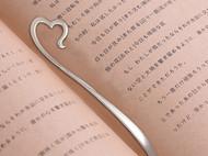 日本直邮 银制创意书签 925银 造型优美 送礼佳品 大渊银器出品 爱心款
