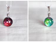 【森姑娘家】手绘 双面星空宝石 项链 1.5厘米  19色选