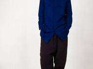 植物蓝染indigo宽松工装女款衬衫-独立设计师品牌[荒腔]