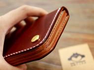 【新品首发】中长款迷你小钱包 红棕色马臀皮 马骝手工皮革出品
