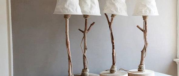 荷兰手工设计师Debbi de Munck和她的手工制作木头照明灯饰