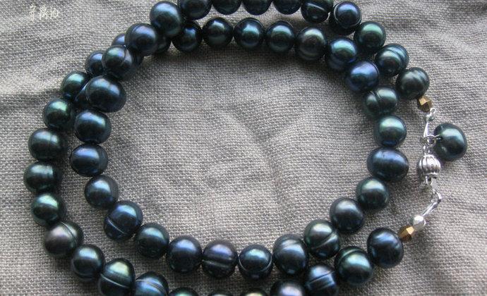 深海 珍珠项链、耳环