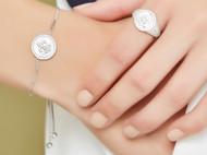 CAMBAS刊芭思 银镶晶钻梦幻星辰手链女 轻奢ins小众设计纯银手饰