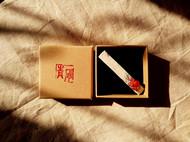 民族原创设计本色日式形染山茶花棉麻草莓晶红玛瑙发卡