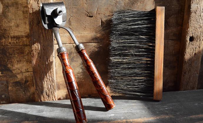 老工具一组 老理发用具 民国老物