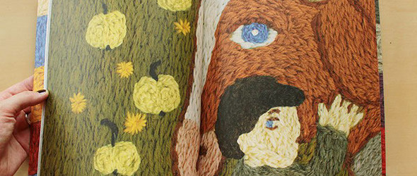«Петушок»:俄罗斯艺术家 Ann Khokhlova 使用刺绣创作的插画书籍