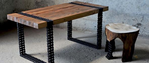 链条+木板=咖啡桌?