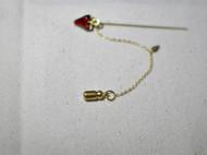【兔兔酱手作:复古草莓胸针。】简单 复古金铜色 别针 金属