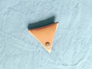 手工原色植鞣牛皮三角形硬币包