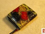 手工蛇皮手包