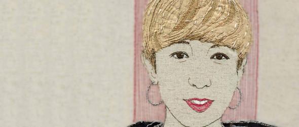 英国纺织艺术家 Sue Stone 拼布刺绣人物肖像画