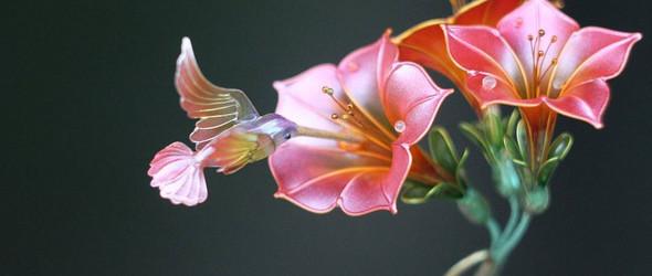 唯美的水晶花 | 俄罗斯珠宝设计师 Margarita Zimina 手工制作的水晶花
