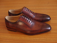 拥护传统手工艺,分享一双手工皮鞋,擦色效果,41