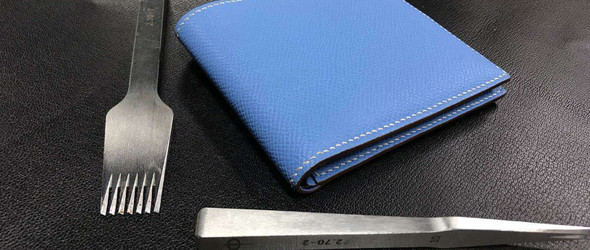 epsom手掌纹短款钱包材料包双十二特价99元,适合手工皮具小包或工作室教学,速来抢购