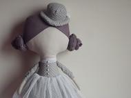 灰色波点小圆帽情侣