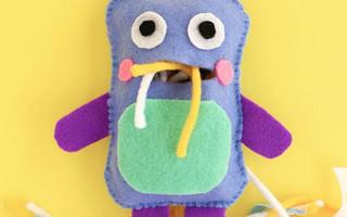 不织布DIY教程:简单制作可爱的吞噬怪兽玩偶(附图纸)