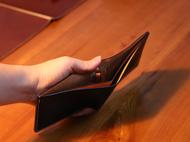 不期而遇丨手工染制 二折钱包 黑色 真皮 设计师