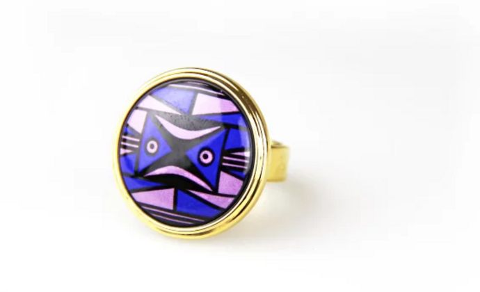 【摩登仰韶】紫玉圆面戒指
