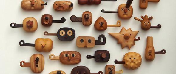圆润可爱的木雕:台湾木雕家閻瑞麟先生作品