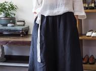 白色纯亚麻提花防晒衫/罩衫-独立设计师品牌[荒腔]