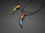 善术SANSHIO木吊坠文艺范创意原创设计项链简约百搭极简毛衣链简约情侣项坠包邮