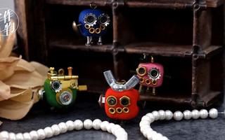简单方法手工制作娇小可爱的软陶小机器人首饰