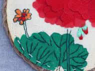 手工杯垫【天竺葵】,看看花,喝喝茶吧~