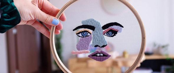 薄纱上的创意刺绣,让图案浮现在空气之中 | Elena Obando