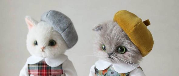严肃活泼的动物玩偶,还有可爱的衣物们