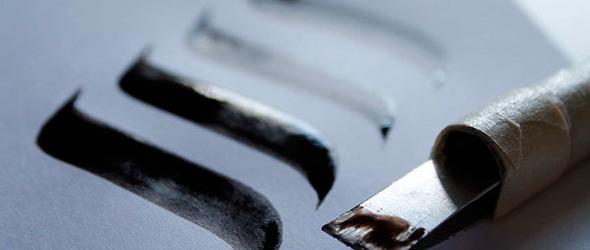 DIY自制哥特字体平行笔(哥特字体书法笔)教程