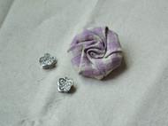 小小布艺玫瑰花发卡 头饰 紫色波点