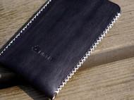 白馬手造 iphone5/5c/5s 保护套 手染黑色